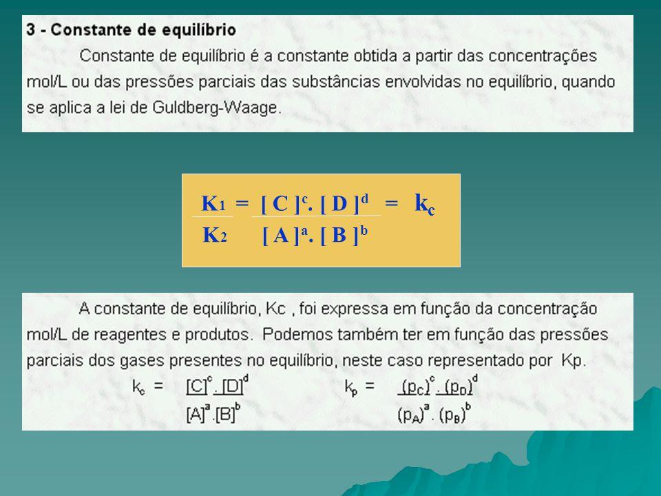 K2 [ A ]a. [ B ]b K1 = [ C ]c. [ D ]d = kc